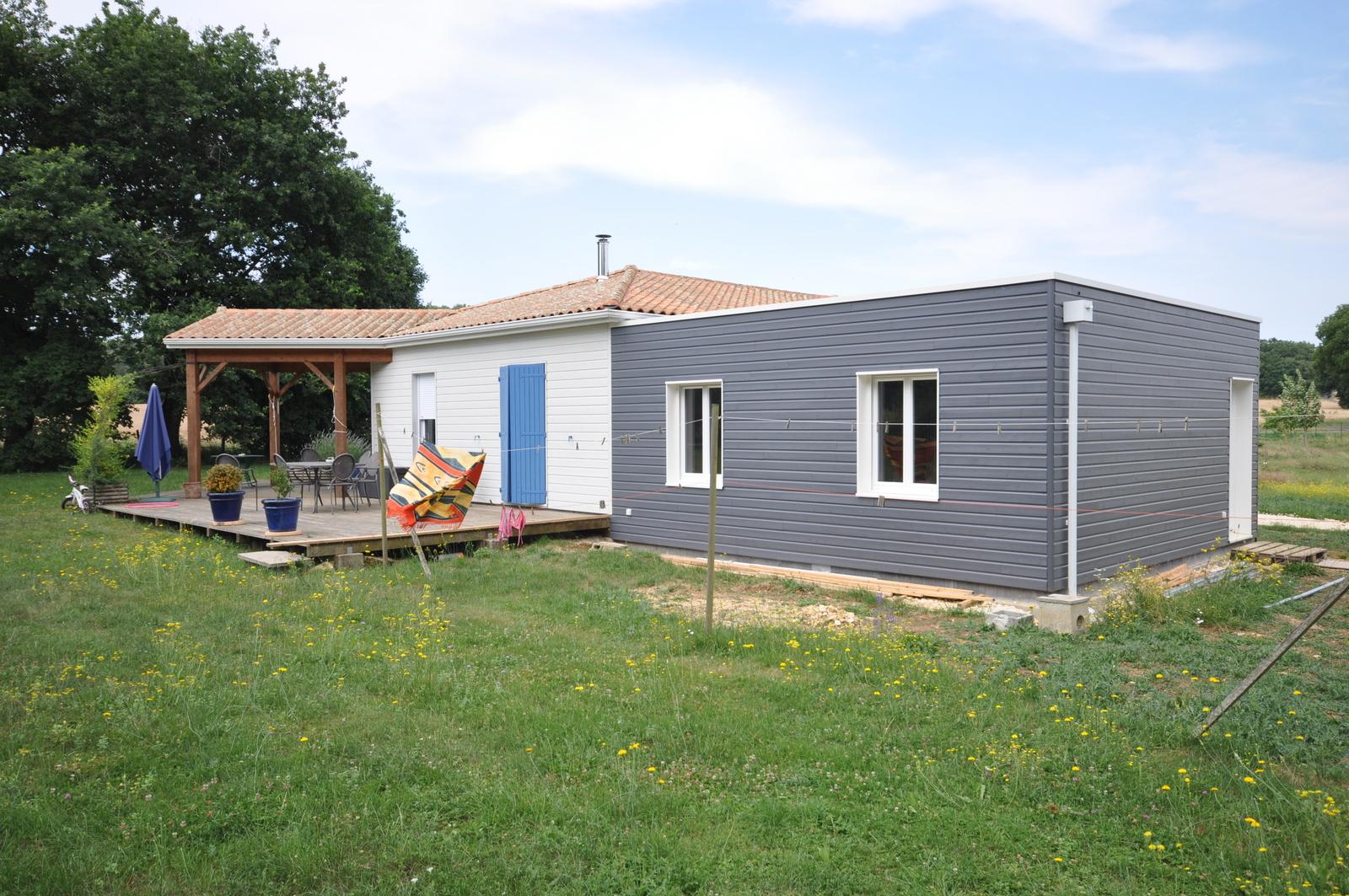 agrandissement ossature bois maison en bois vivanbois