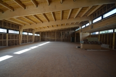 vivanbois-dojo de cozes-structure bois-portique lamellé bardage alouré classe 3-bardage faux claire voix 2