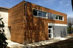vivanbois-lycée de recouvrance à saintes-ossature bois-bardage thermohuilé-bardage findermax-bardage classe 4 alto 2