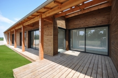 vivanbois-maison ossature bois-bardage alto piveteau-charpente douglas-terrasse bois-thénac