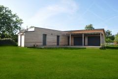 vivanbois-maison ossature bois-bardage mélèze-menuiserie k line aluminium ral 7016-couverture bac acier-rouffignac - Copie