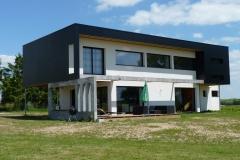 vivanbois-maison ossature bois-bardage panneaux fundermax-menuiserie aluminiun laqué ral 7016-fibre de bois enduit-épargnes 2 - Copie