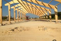 vivanbois-struture bois-lamellé collé-batiment de stockage à plaquettes de bois de chauffage avec production électrique par photovoltaïque-gémozac 2