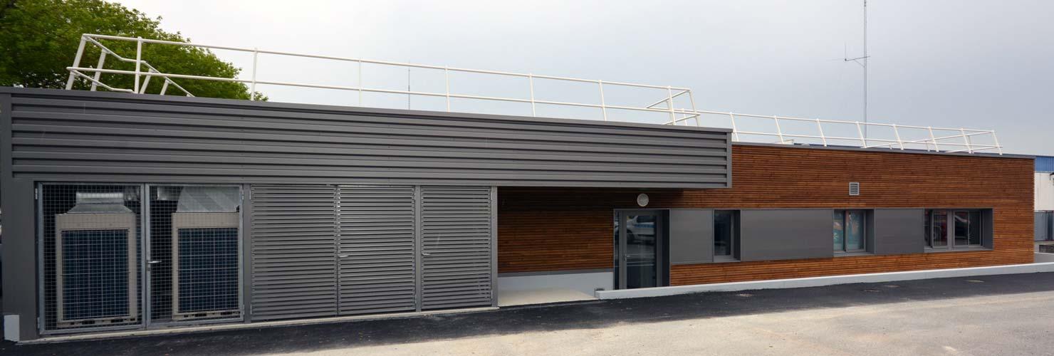 construction laboratoire routier 17100 saintes bardage bois aluminium