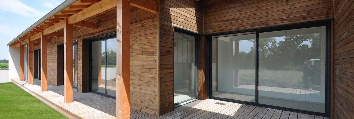 construction maison bois moderne 140m2 Thenac 17460