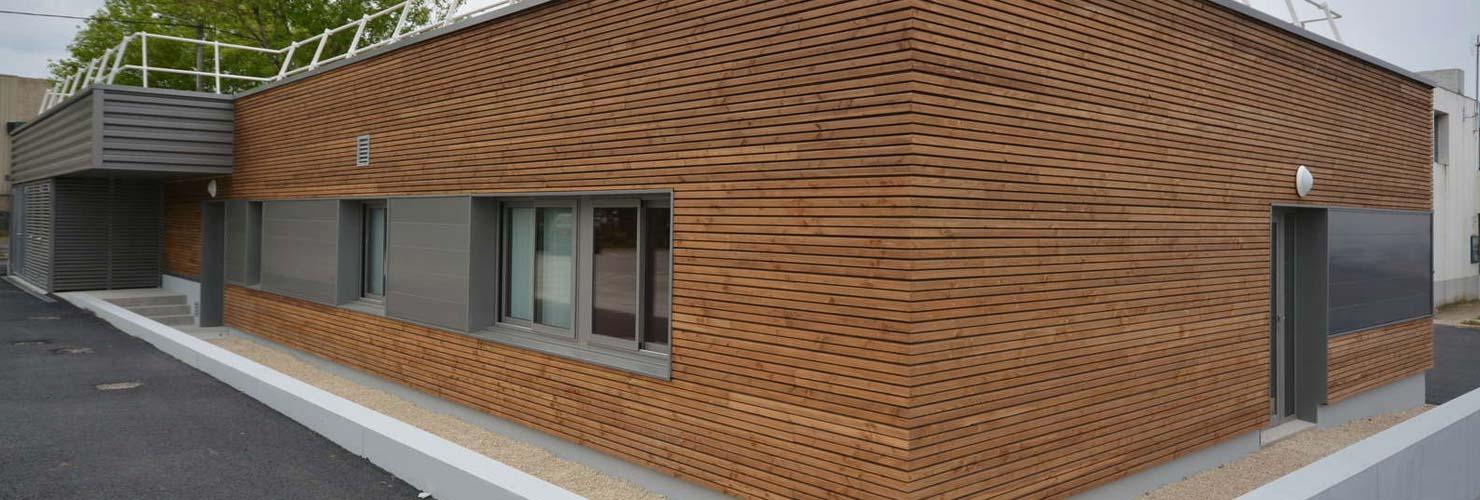 habillage laboratoire routier de saintes lot ossature bois bardage menuiserie interieur