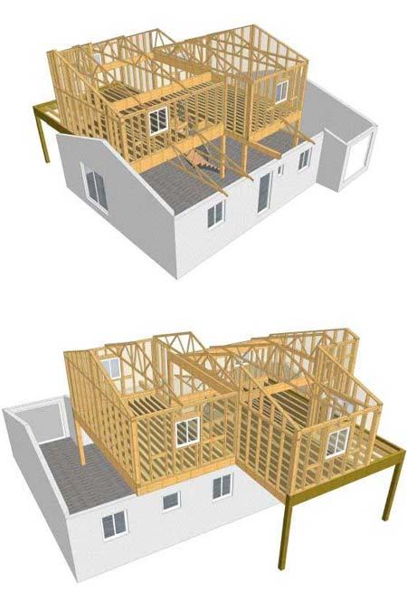 plan 3D création étage maison