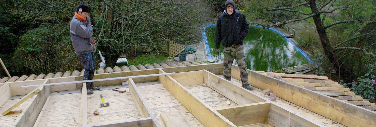 rénovation toiture isolation maison gemonzac
