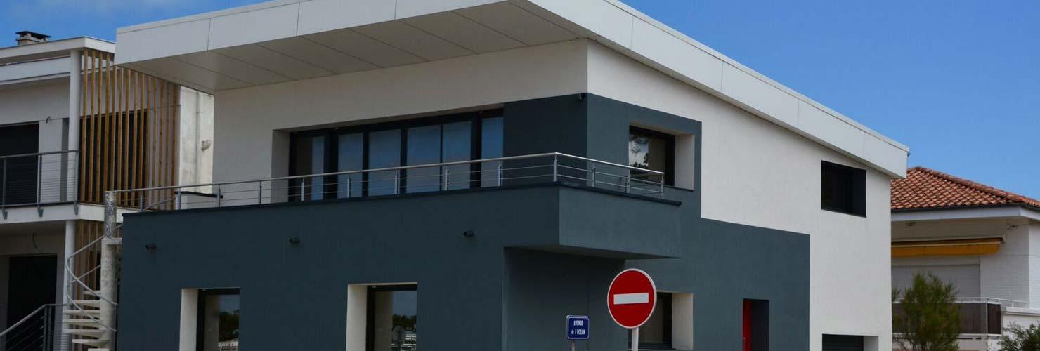 surélévation maison avec panneaux fundermax st georges de didonne 17110