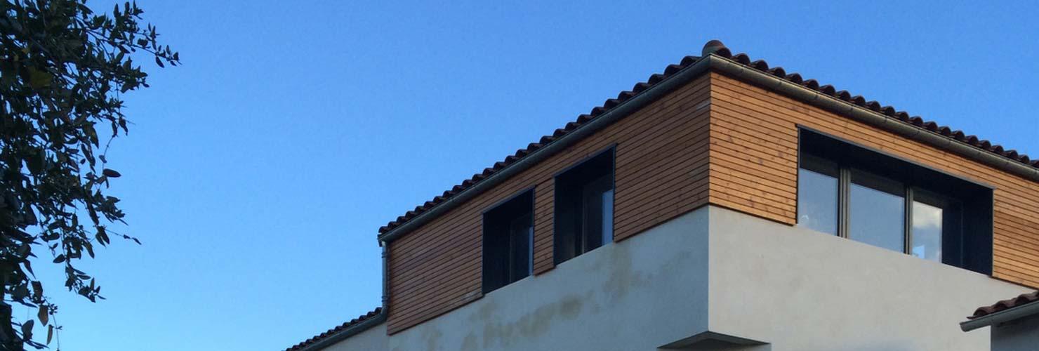 surélévation maison bardage bois saintes 17100
