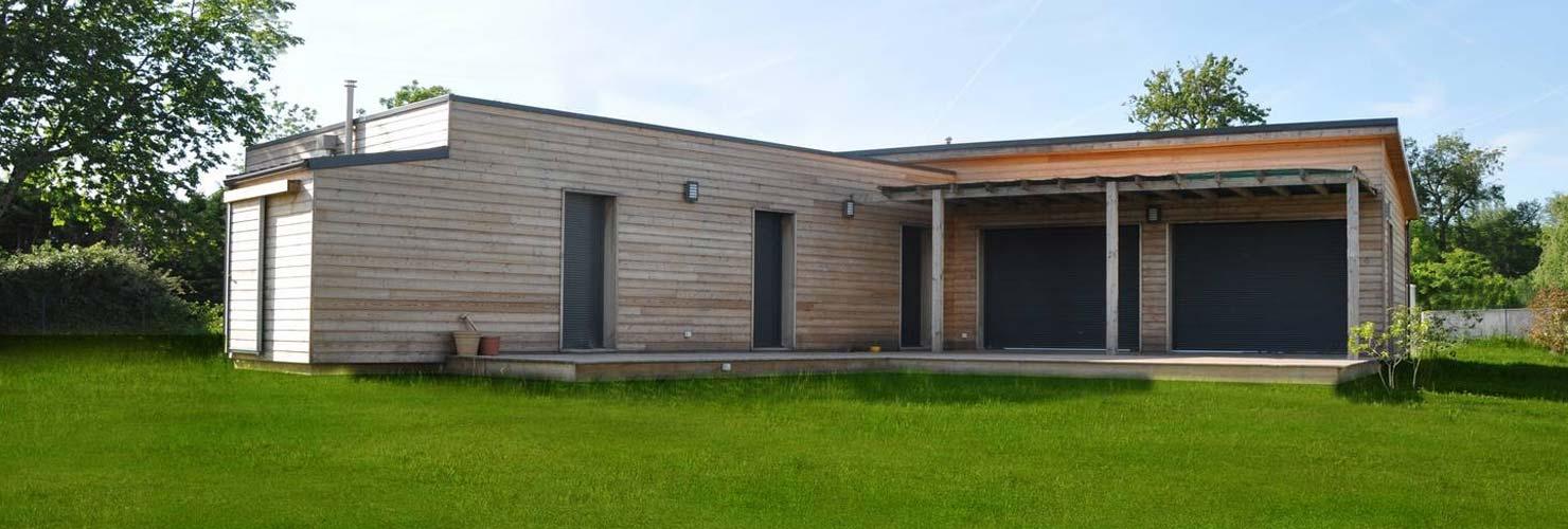 vivanbois constructeur maison ossature bois bardage toit plat rouffignac 24580