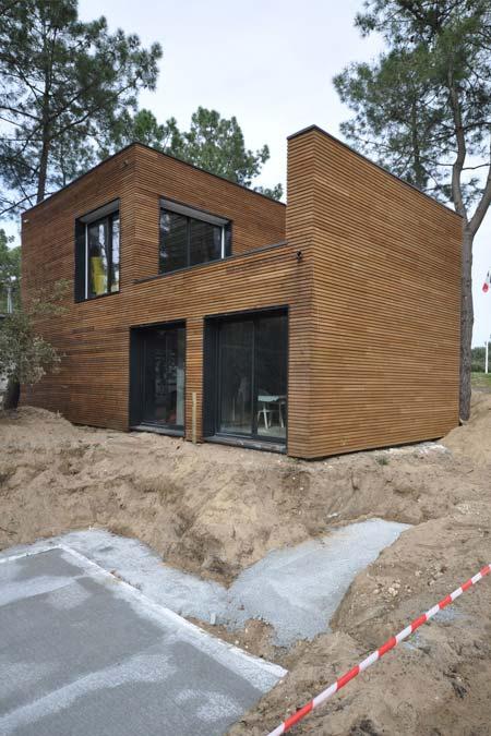 chantier de construction maison bois charente maritime