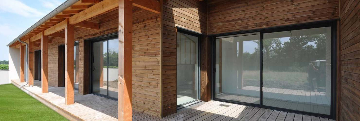 cconstruction maison bois moderne 140m2 Thenac 17460