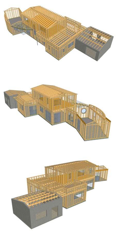 plan 3D construction maison ossature bois nouvelle aquitaine