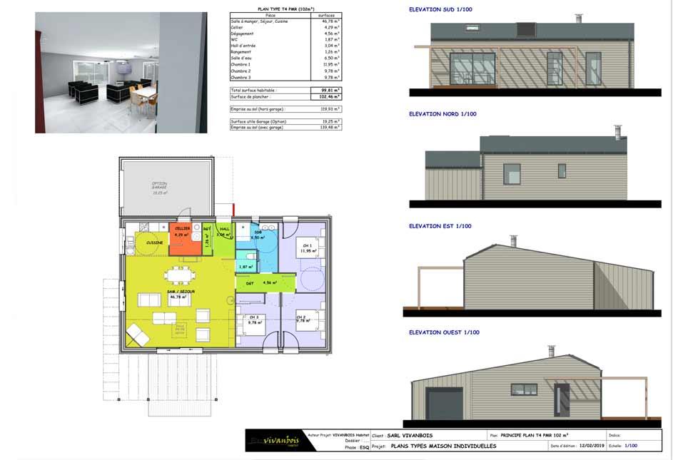 construction maison bois 112m2 gemozac