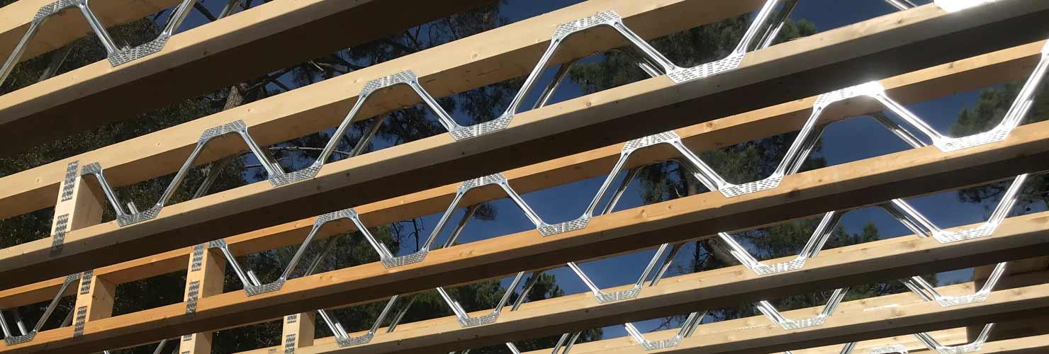 structure porteuse charpente bois acier